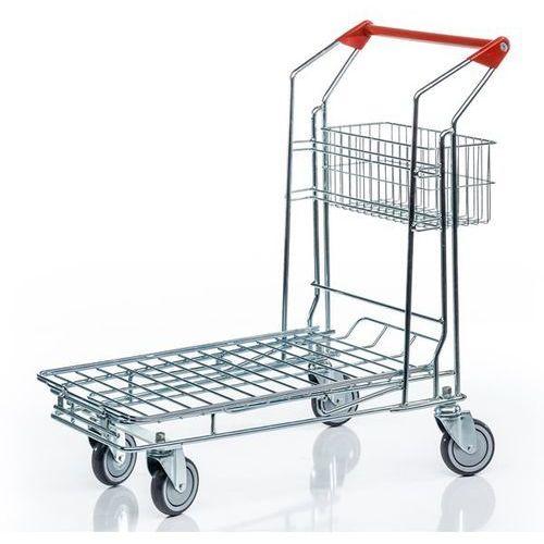 Uniwersalny wózek transportowy, 1 przyspawany kosz na szkielecie, powierzchnia ł marki Unbekannt
