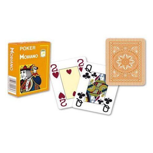 4 rogi 100% plastikowe karty - pomarańczowe marki Modiano