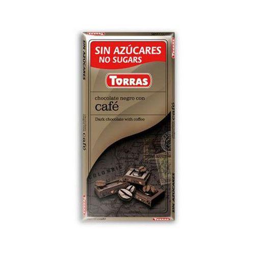 Torras Czekolada gorzka z kawą, bez cukru, bezglutenowa 75g (8410342006318)