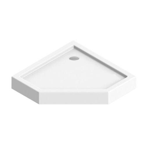 Brodzik akrylowy pięciokątny 90 x 14 cm biały marki Durasan