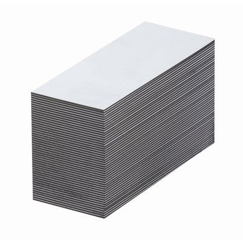 Magnetyczna tablica magazynowa, białe, wys. x szer. 40x80 mm, opak. 100 szt. Zap