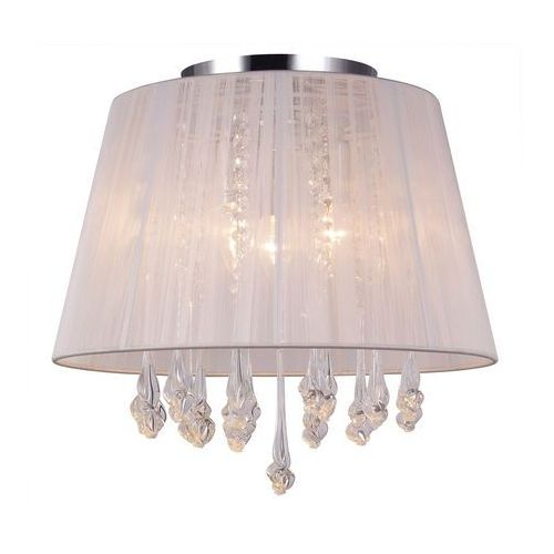 Plafon LAMPA sufitowa ISLA MXM1869-3 WH Italux abażurowa OPRAWA kryształowa glamour crystal biała, MXM1869-3 WH