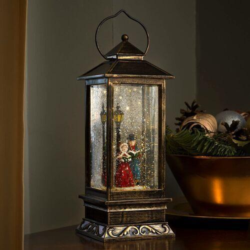 Wysoka latarnia dekoracyjna Scenka zimowa