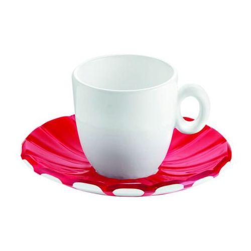 Guzzini - Grace - kpl. 2 filiżanek espresso,czerwone - czerwony ||biały (8008392271130)