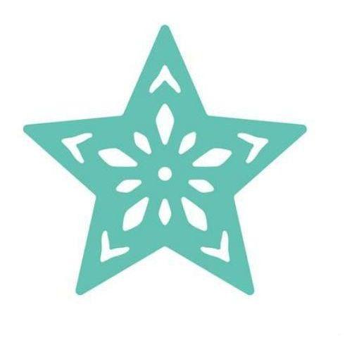 Dziurkacz ozdobny ażurowy 3,7 cm - gwiazda - GWIAZ