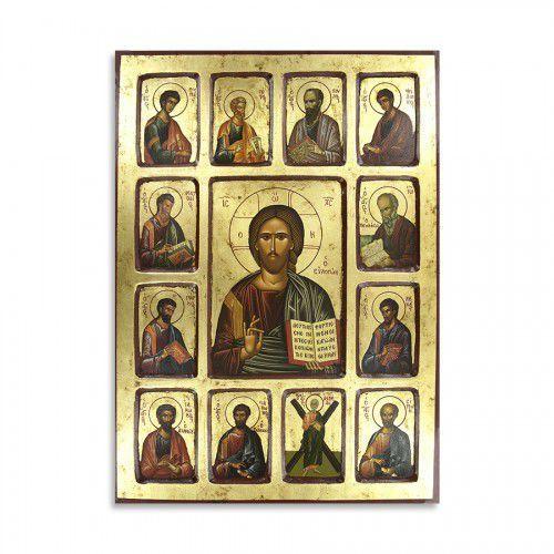 Ikona Chrystus Wszechwładca z Apostołami, 30 x 40 cm
