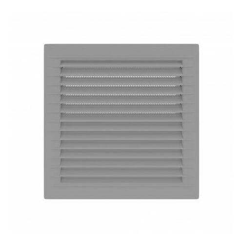 Kratka wentylacyjna skośna z siatką 14x14 szara AirRoxy 0938