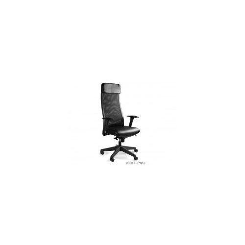 Krzesło biurowe ares soft pu ekoskóra czarny marki Unique meble