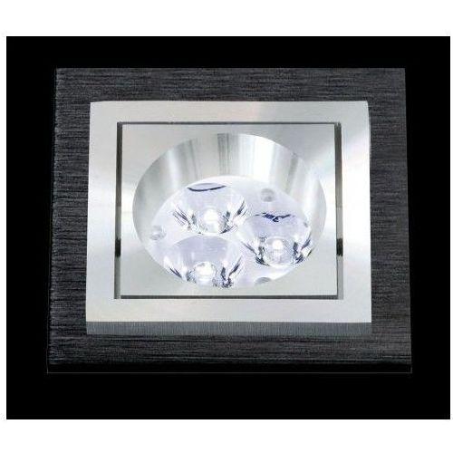 Bpm lighting Oczko kwadratowe square aluminium szczotkowane czarne gu5.3, 3074