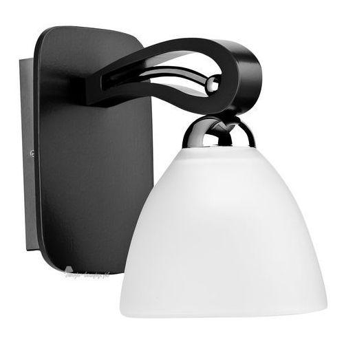 Kinkiet oprawa lampa ścienna Alfa Gracja Venge 1x60W E27 biały brązowy 20900