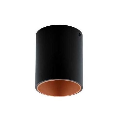 Plafon Eglo Polasso 94501 lampa oprawa sufitowa spot 1x 3,3W czarny/orzechy LED, 94501