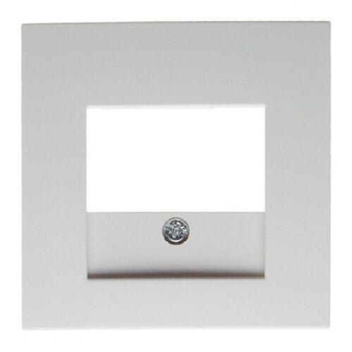 BERKER B.Kwadrat Płytka czołowa do gniazda głośnikowego i gniazda ładowania USB, biały, połysk 5310338989 (5907561849978)