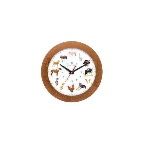 Atrix Zegar drewniany z głosami zwierząt solid #1