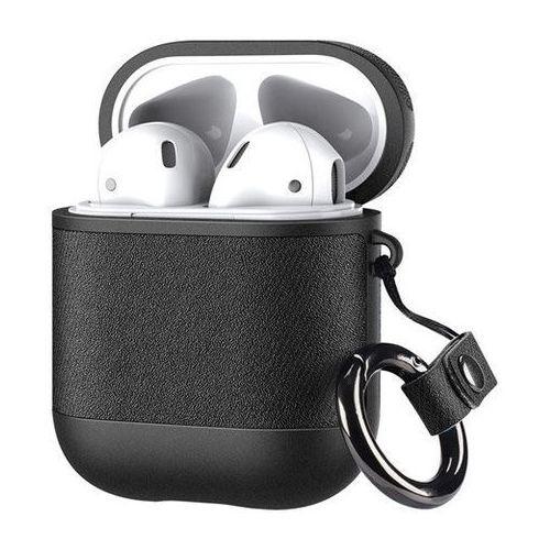 Dux Ducis etui na słuchawki Apple AirPods 2 / AirPods 1 z ekologicznej skóry czarny - Czarny