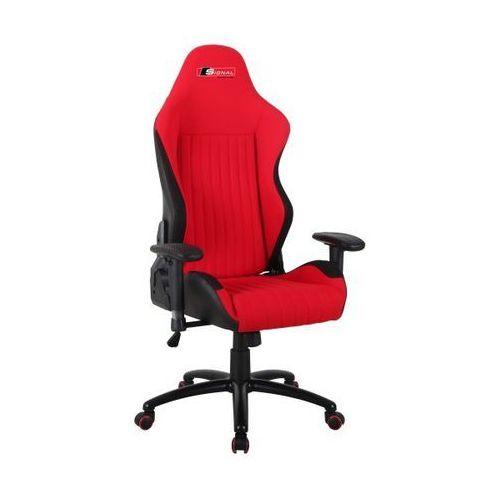 Fotel obrotowy SIGNAL Alpina - czerwony - Fotel gamingowy dla gracza! DOSTAWA GRATIS