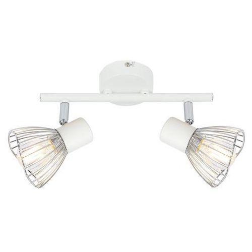 Candellux Fly 92-61966 plafon lampa sufitowa 2x40W E14 biały / chrom, kolor Biały