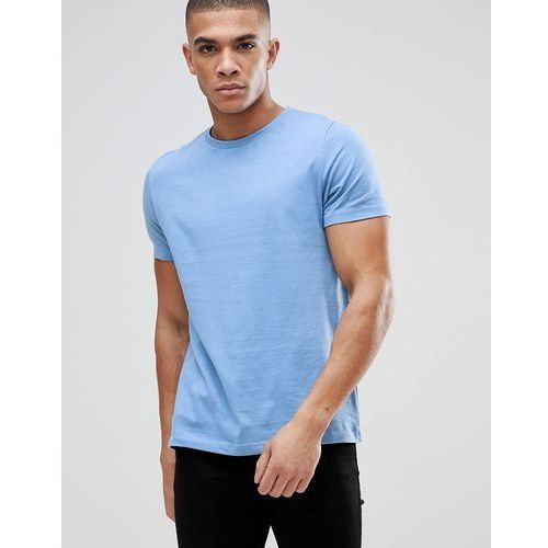 Asos muscle fit t-shirt with crew neck - blue