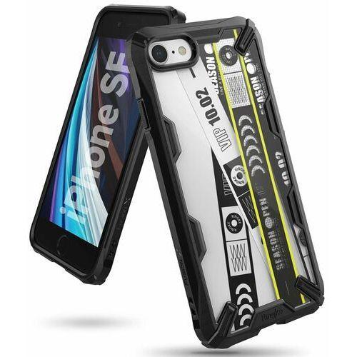 Ringke Fusion X Design etui pancerny pokrowiec z ramką iPhone SE 2020 / iPhone 8 / iPhone 7 czarny (XDAP0010) - Czarny