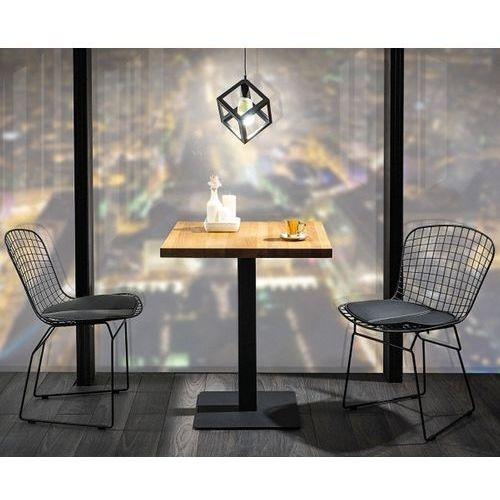 Kwadratowy stół z blatem w okleinie naturalnej puro 70x70 marki Signal