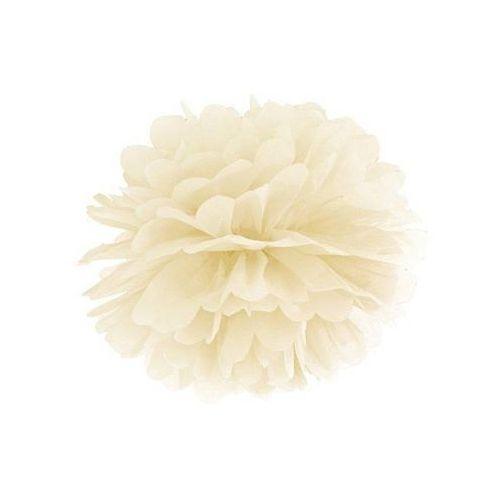 Ap Dekoracja wisząca pompon kwiat - kremowa - 35 cm - 1 szt.