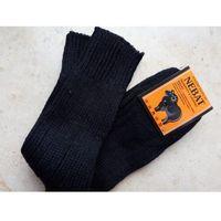 Skarpety rozgrzewające wełniane (99%) thermal - rozm. 43-46 czarne, Nebat (turcja)