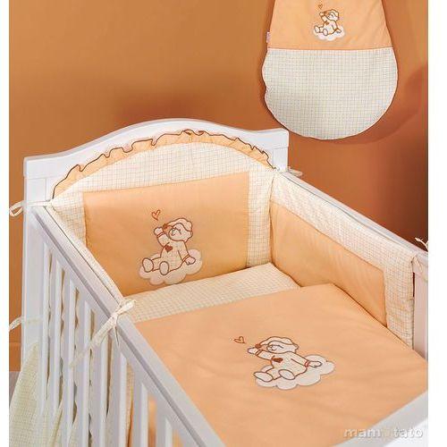 MAMO-TATO Ochraniacz do łóżeczka 70x140 Śpioch na chmurce brzoskwiniowy - PROMOCJA