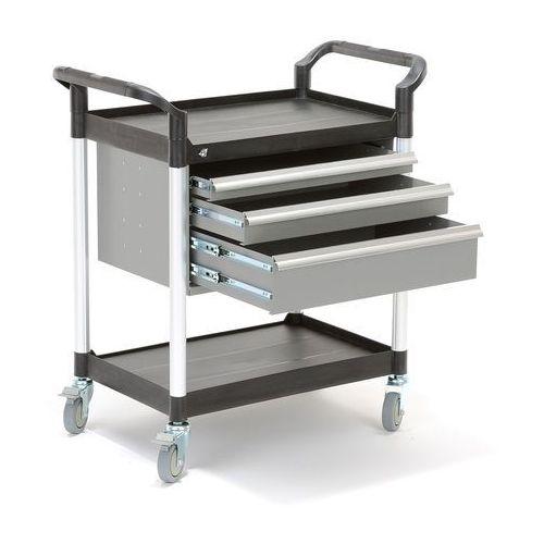 Wózek narzędziowy MOVE, 2 półki, 3 szuflady, 850x480x950 mm, 27013