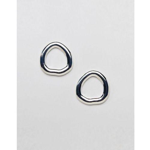 Ivyrevel Silver Hoop Earrings - Silver, kolor szary