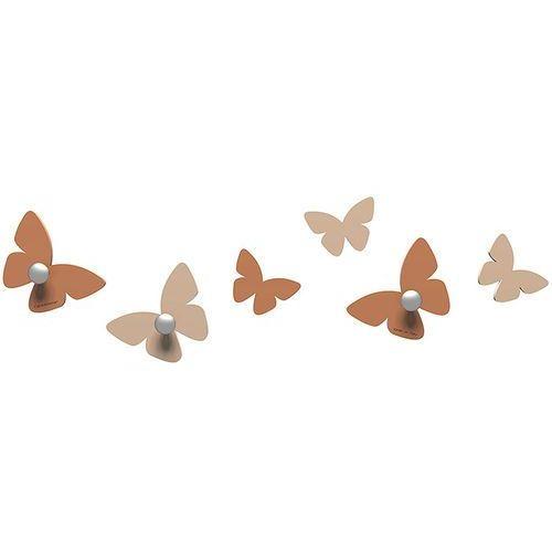 Wieszaczki ścienne Millions of Butterflies CalleaDesign jasnobrązowe (50-13-2-23)