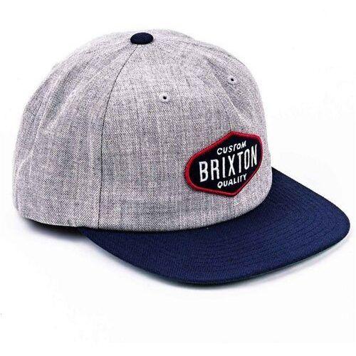 czapka z daszkiem BRIXTON - Oakland Light Heather Grey-Navy (LHGNV) rozmiar: OS, kolor niebieski