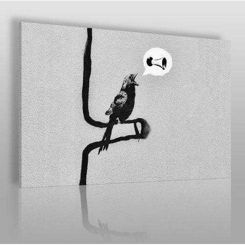 Banksy - ptak - nowoczesny obraz na płótnie marki Vaku-dsgn
