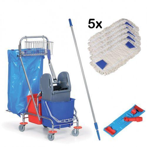 Komplet: Wózek do sprzątania i mop