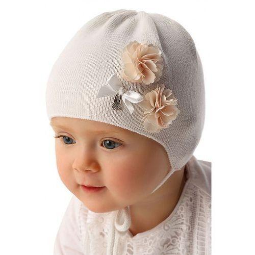 Czapka niemowlęca biała 5x34b3 marki Marika