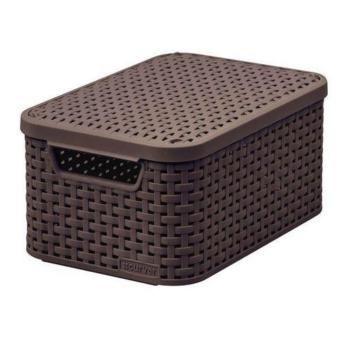 Curver poland Koszyk do przechowywania z pokrywką style box s v2 + lid - dbr210 ciemny brąz