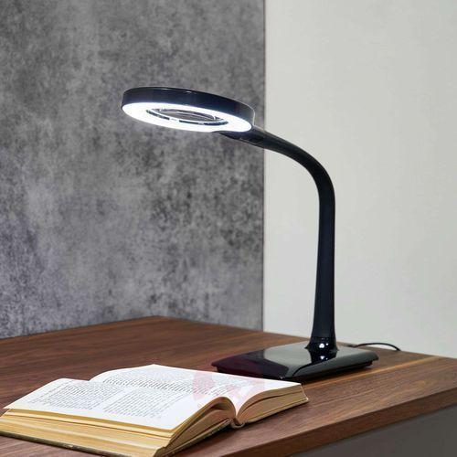 Lampa LED Lupo z lupą, czarna (4017807291445)