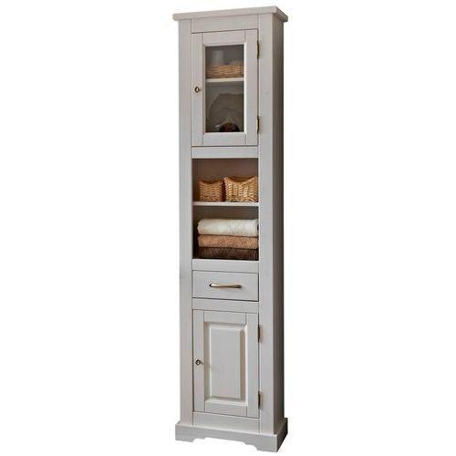 Drewniana szafka łazienkowa wysoka ROMANTIC NOWY FSC 800
