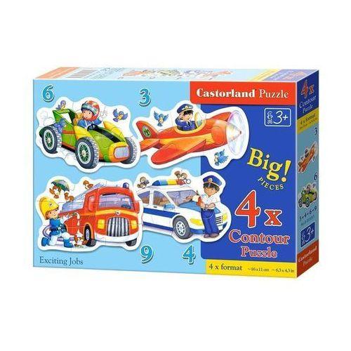 Puzzle konturowe4w1 Exciting Jobs 3-4-6-9 el, AM_5904438005055