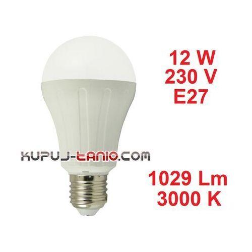 Żarówka LED Bańka (A65) 12W, 230V, gwint E27, barwa biała ciepła