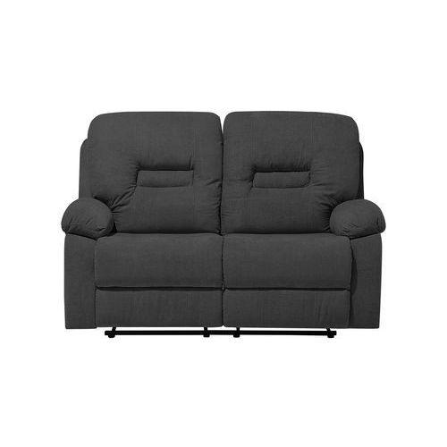 Sofa dwuosobowa tapicerowana ciemnoszara rozkładana BERGEN (4260624114514)