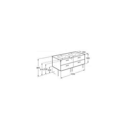 ROCA Victoria Basic Unik szafka z szufladami biały połysk + umywalka 120 A855850806, A855850806
