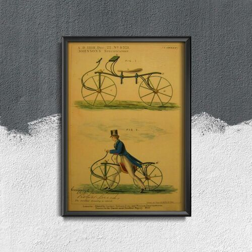 Vintageposteria.pl Plakat retro do salonu plakat retro do salonu retro rowerowy nadruk velocipede johnson