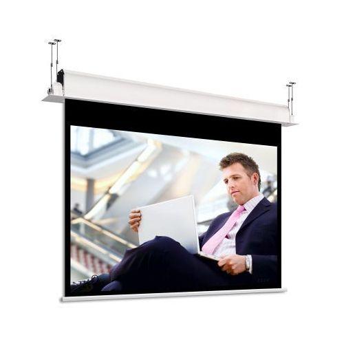 Ekran ścienny elektrycznie rozwijany incell 1:1, 267x265cm, visionwhiterearbe marki Adeo