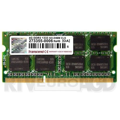 Transcend DDR3 4GB 1333 CL9 SO-DIMM