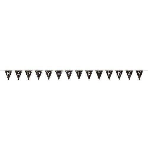 Baner flagi happy birthday personalizowany - 3,96 m (0013051791421)