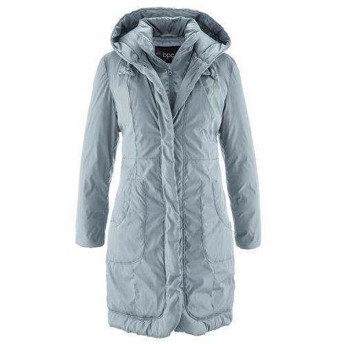 Płaszcz ocieplany srebrnoszary marki Bonprix