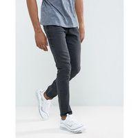 Pull&Bear Skinny Jeans In Dark Grey Wash - Black, jeansy