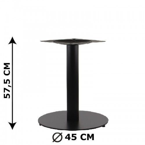 Podstawa stolika sh-5001-5/l/b, fi 45 cm, wysokość 57,5 cm (stelaż stolika), kolor czarny marki Stema - sh