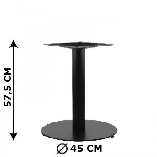 Podstawa stolika SH-5001-5/L/B, fi 45 cm, wysokość 57,5 cm (stelaż stolika), kolor czarny