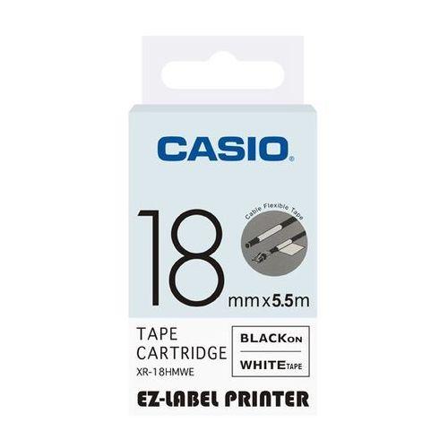 Casio taśma etykiet elastyczna (do oznaczania kabli) XR-18HMWE, XR18HMWE, XR-18HMWE