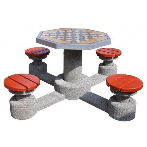 Betonowy stół do gry w szachy ośmiokątny marki Eco-market.pl